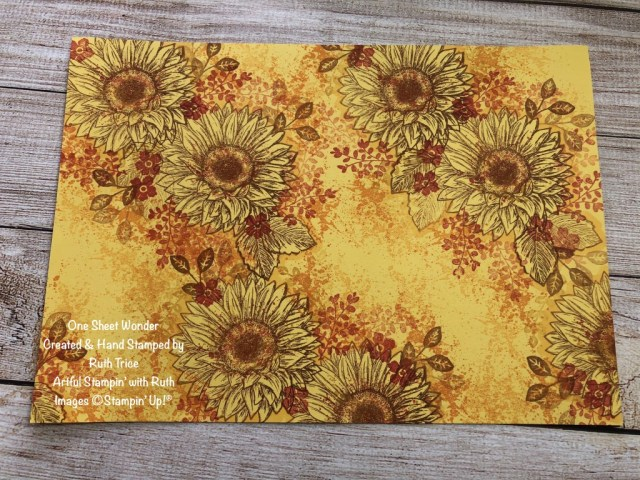 Celebrate Sunflowers, One Sheet Wonder, Ruth Trice, Artful Stampin' with Ruth