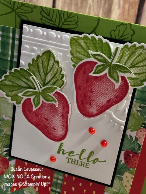 A Berry Delightful Card, Susan Levasseur, WOW NOLA Creations, Stampin' Up!