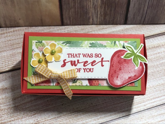 Strawberry Shortcake Treat Box, Sweet Strawberry, Susan Levasseur, WOW NOLA Creations, Stampin' Up!