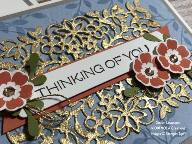 Vine Design with Gilded Leafing, Susan Levasseur, WOW NOLA Creations, Stampin' Up!