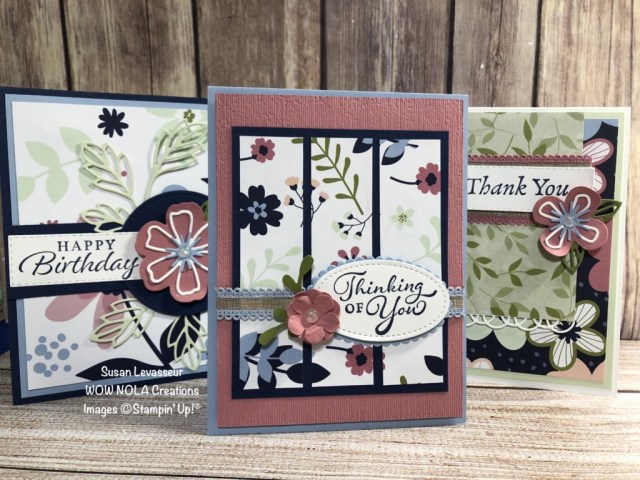 Happy Thoughts Trio, Susan Levasseur, WOW NOLA Creations, Stampin' Up!