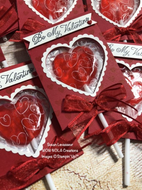Sweet Valentine Treat, Lollipop Holder, Susan Levasseur, WOW NOLA Creations, Stampin' Up!