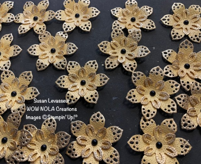 Lacy Petals Flowers, Susan Levasseur, WOW NOLA Creations, Stampin' Up!