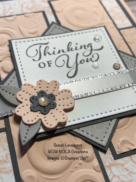 A Lesson in Layering, Happy Thoughts, Susan Levasseur, WOW NOLA Creations, Stampin' Up!