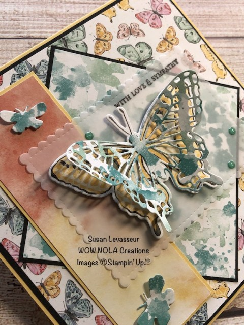 With Love & Sympathy, Butterfly Bijou, Susan Levasseur, WOW NOLA Creations, Stampin' Up!