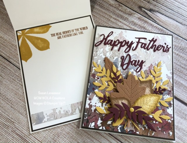 Father's Day Card, Susan's Levasseur, WOW NOLA Creations, Stampin' Up!