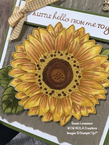 Techniques with Sunflowers, Susan Levasseur, WOW NOLA Creations, Stampin' Up!