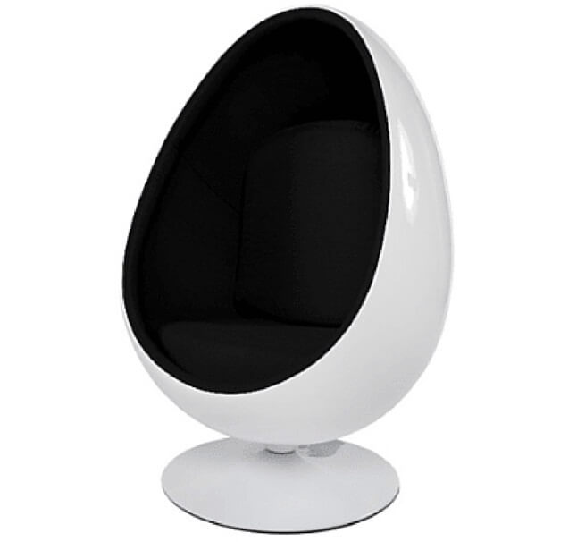 Egg Pod Chair  Black for Hire
