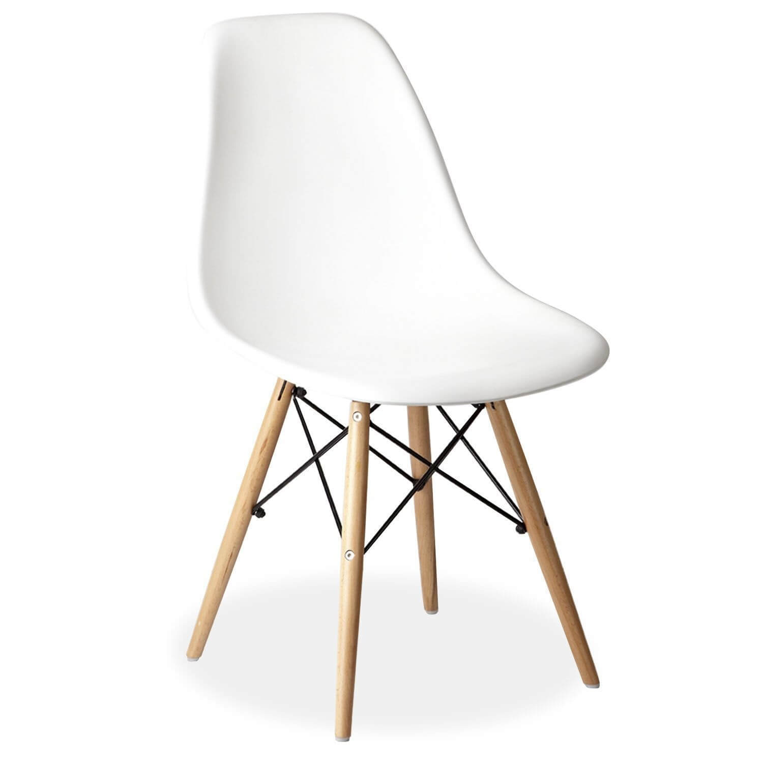 eames chair white kneeling review style dsr wooden eiffel for hire