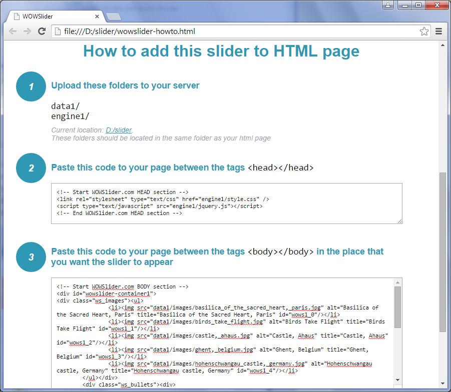 Comment Ajouter WOWSlider Sur Une Page HTML Dj Existante