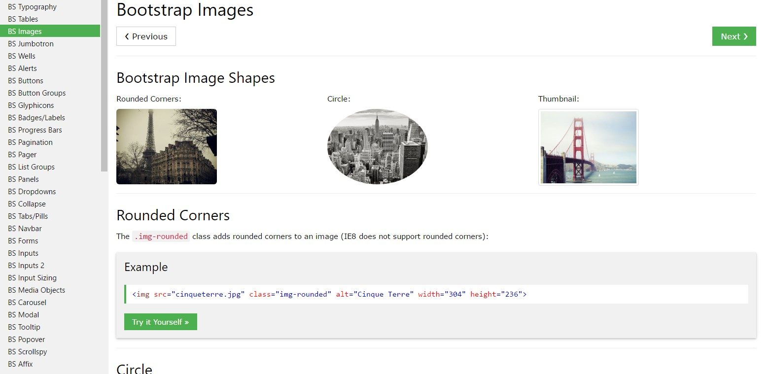 Bootstrap Image Example
