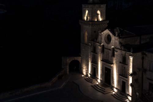 Chiesa di San Pietro Caveoso visto dalla Madonna dell'Idris