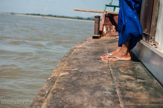 Navigare sul fiume Irrawaddy in Birmania infonde calma. Photo Giorgiana Scianca, Wowthewold