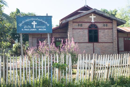 Chiesa Anglicana a Katha, Birmania