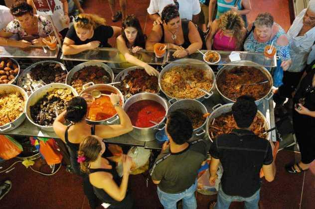 Dizengoff Center food fair, Tel Aviv