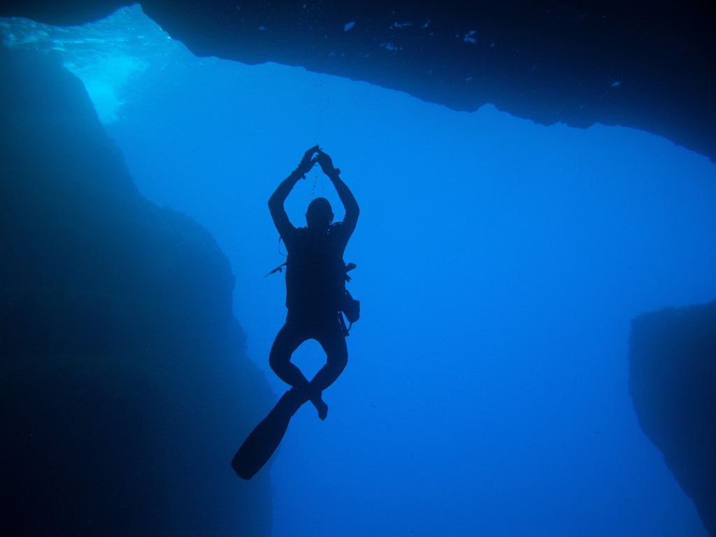 Diving, Cave Gozo, Malta - by Silke Baron:Flickr