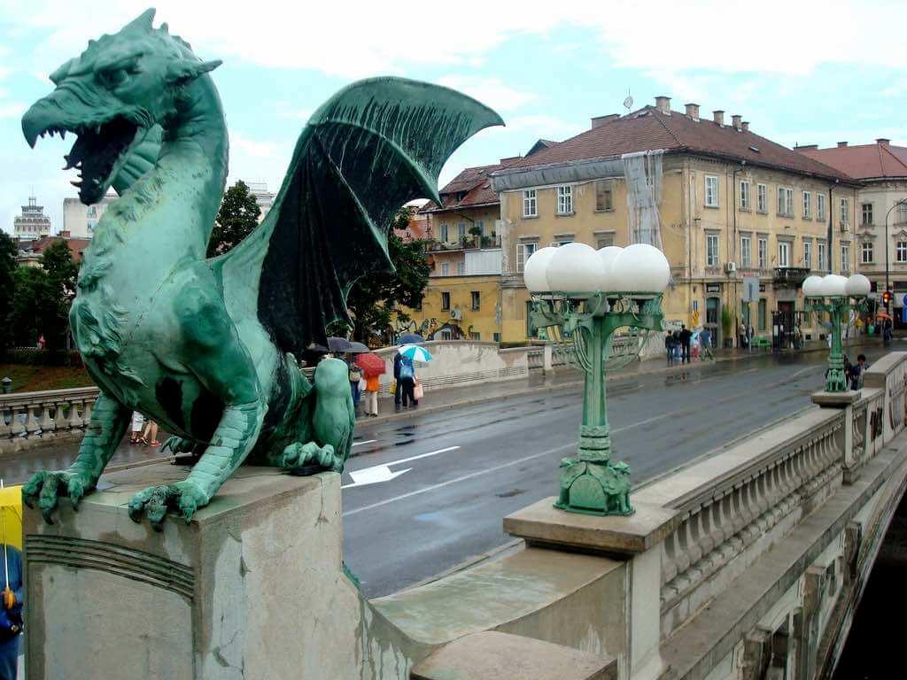 Dragon Bridge, Ljubljana - by Bryce Edwards :Flickr