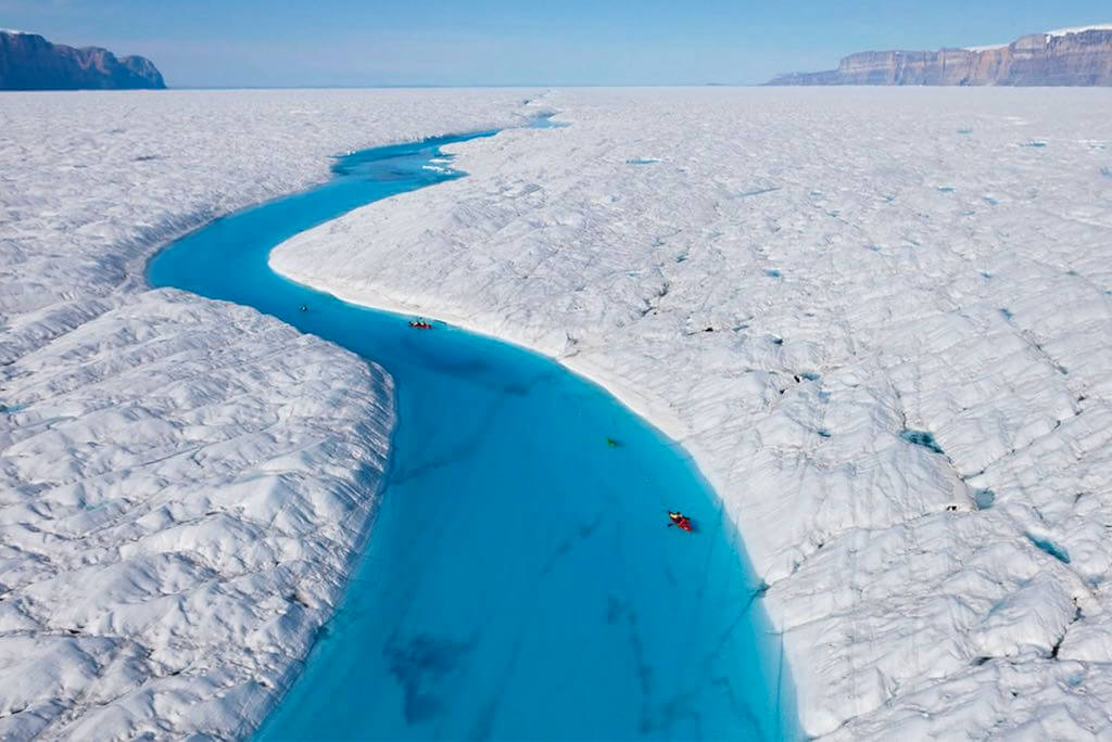 Blue River, Greenland - by Unknown: onebigphoto.com