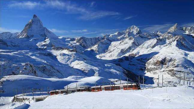 Cervin, Matterhorn from Gornergrat with the Gornergrat Bahn - by imagea.org :Flickr