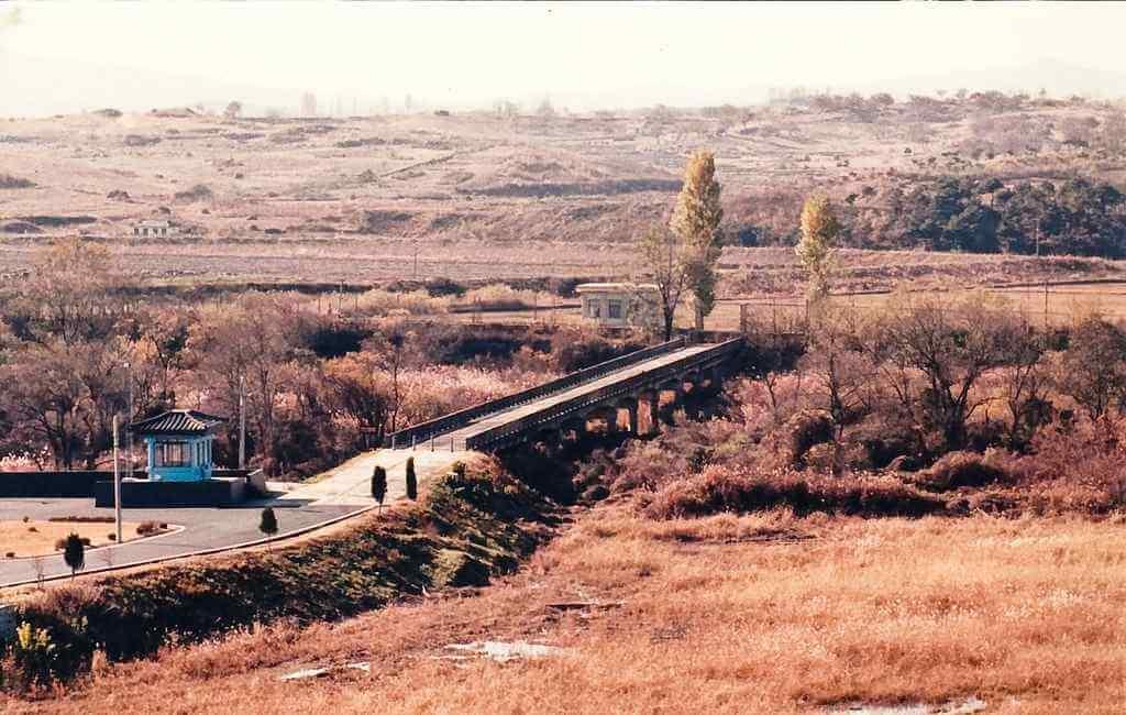Bridge of no return (North-South Korea) -by Paul J Everett/Flickr.com