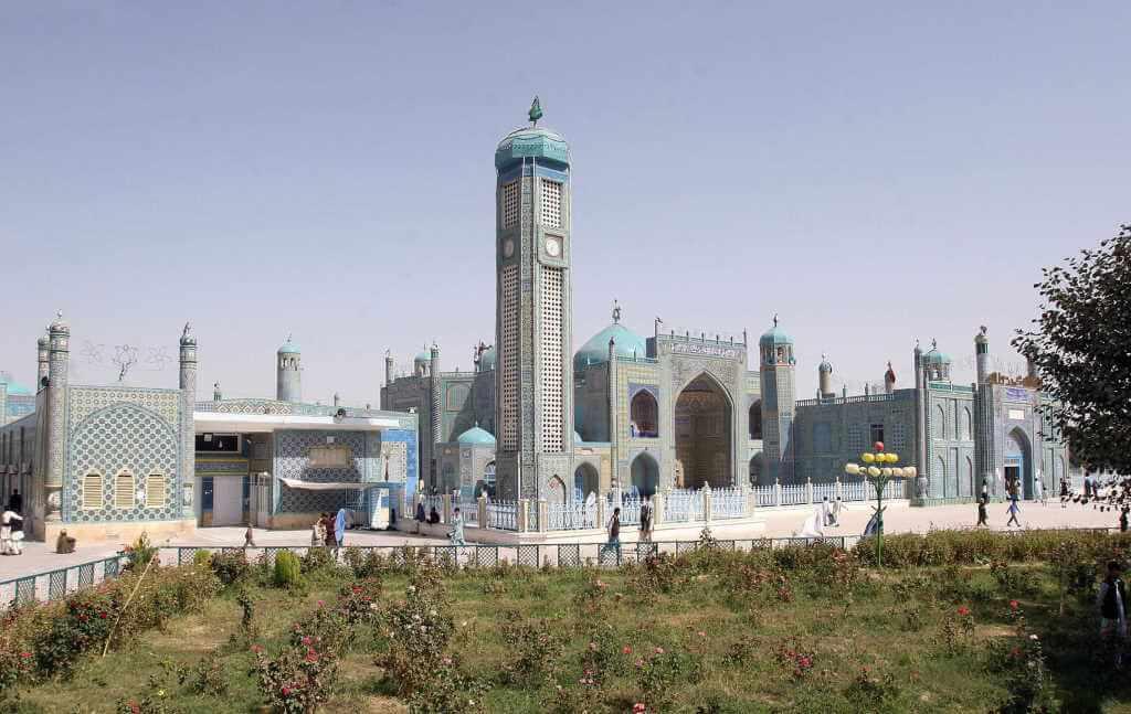 Hazrat Ali Shrine (Blue Mosque) -by ISAF Headquarters Public Affairs Office/Wikimedia.org