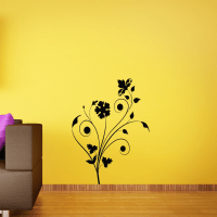 Floral Abstract Wall Art - Removable Wall Stickers and ...