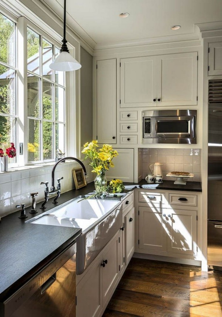 70 Stunning Kitchen Light Cabinets with Dark Countertops Design Ideas   Page 64 of 71