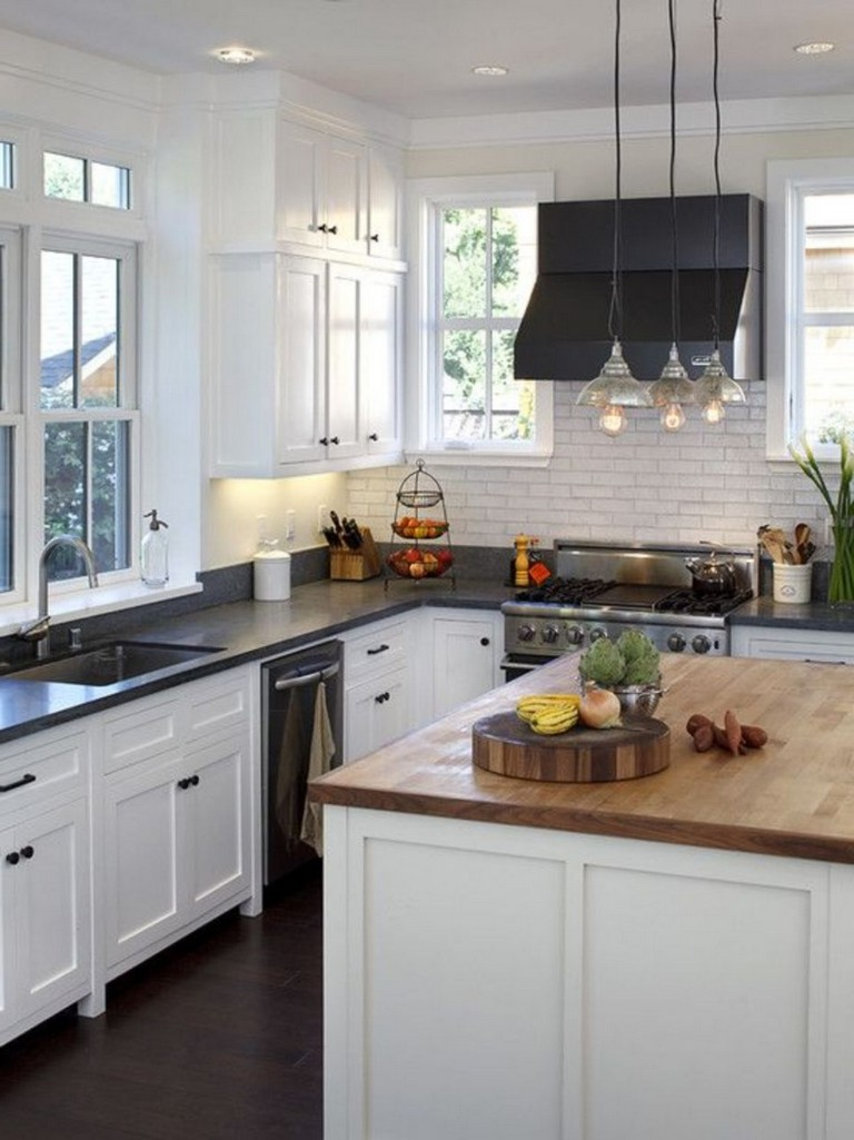 70 Stunning Kitchen Light Cabinets with Dark Countertops Design Ideas   Page 65 of 71