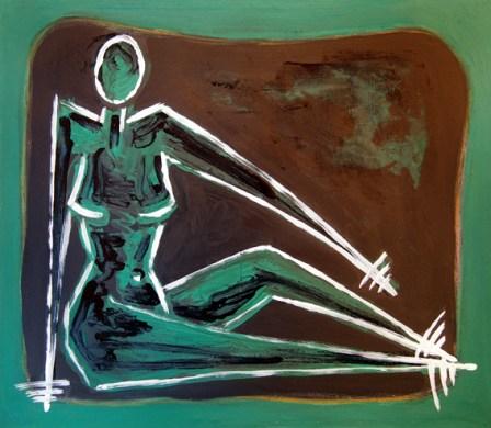 Donne VI - oil on canvas 38 cm x 46 cm