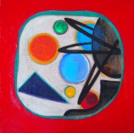 The geometric abstract - Quadrato rosso
