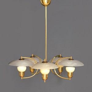 Voss chandelier brass