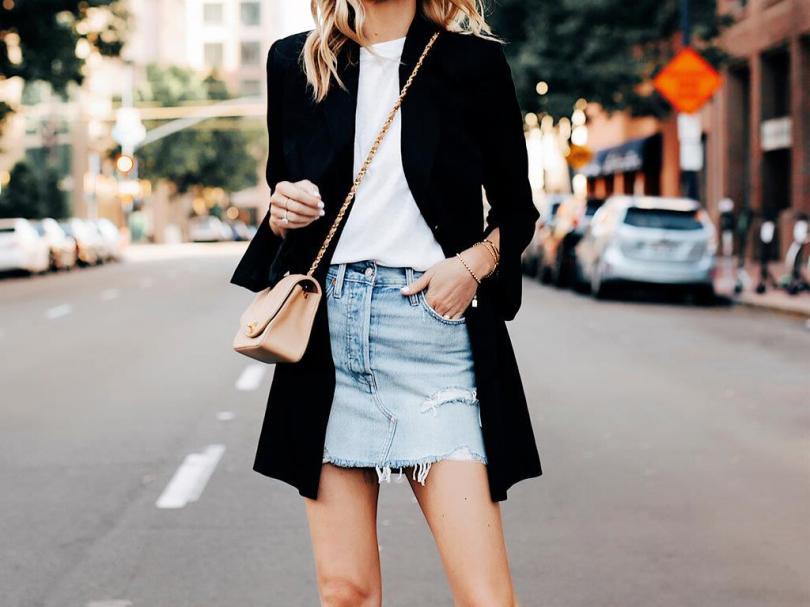 Looks com saia Jeans 2021: Looks e Tendências