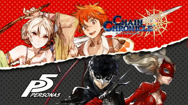 qoo news teaser for chain chronicle 3 and persona 5 crossover has