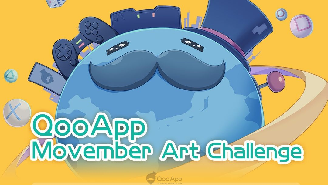 QooApp Movember Art Challenge! Lucrative Mysterious Boxes Waiting for You to Win!