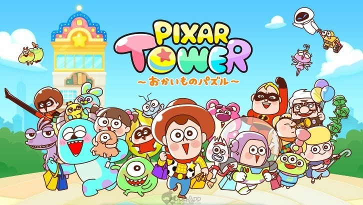 Kawaii Pixar Characters Visit Your Phone! LINE Pixar Tower Now Available for Download!