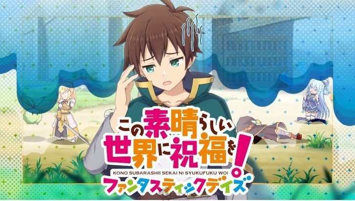 KonoSuba Fantastic Days Pre-Registration Reaches 100,000! Theme Song Previewed