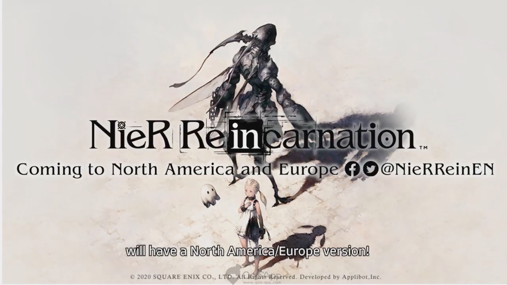 """NieR Re[in]carnation"" Mobile Game Now Opens for Pre-registration! North American and European Release Confirmed!"