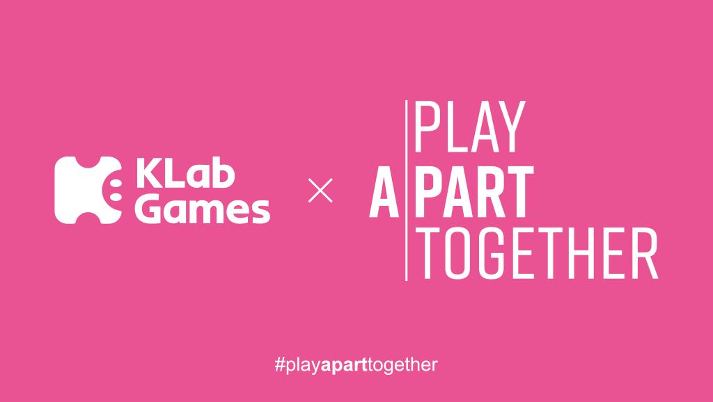 KLab鼓勵玩家遊戲,你我為疫情出一分力!響應遊戲產業與WHO的「#PlayApartTogether」運動,多款遊戲派送豐富獎勵