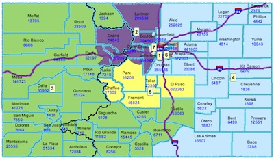 Approved map of CO's Congressional Districts