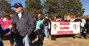 Goose Gossage marches with other Wasson alums.