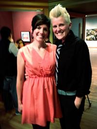 Erika Highstead and Sarah Musick celebrate their civil union.