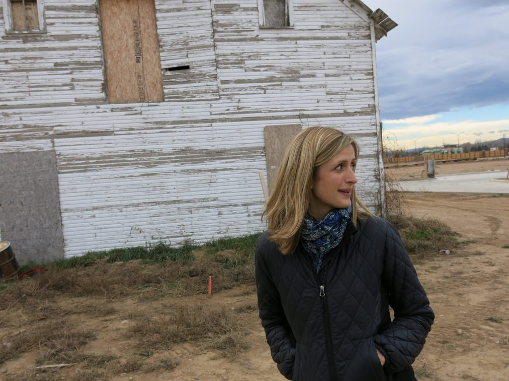Kristin Kirkpatick is in charge of leasing space in Bucking Horse's commercial area. She says agriculture and food production are the big draws to the development.