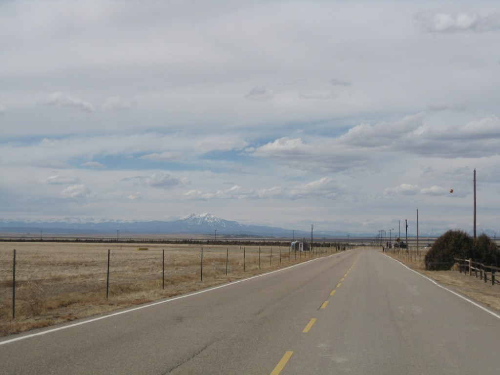 A highway in Southern Colorado. Photo taken: April 2013