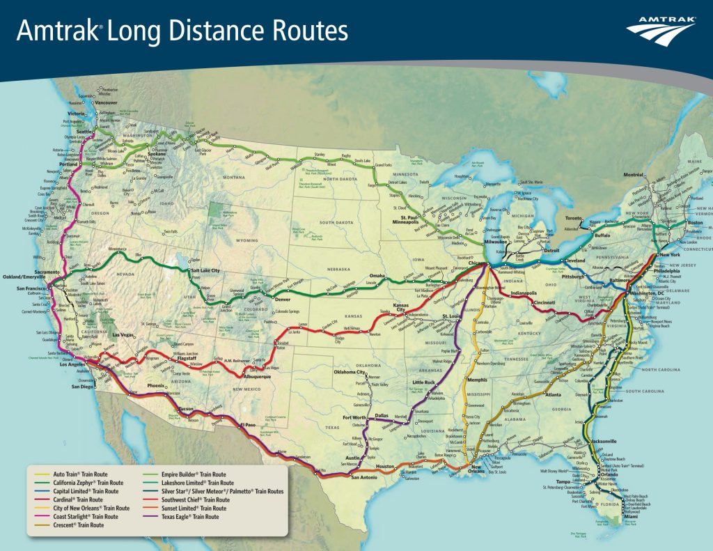 Amtrak's long-distance routes make up about 15% of the company's ridership.