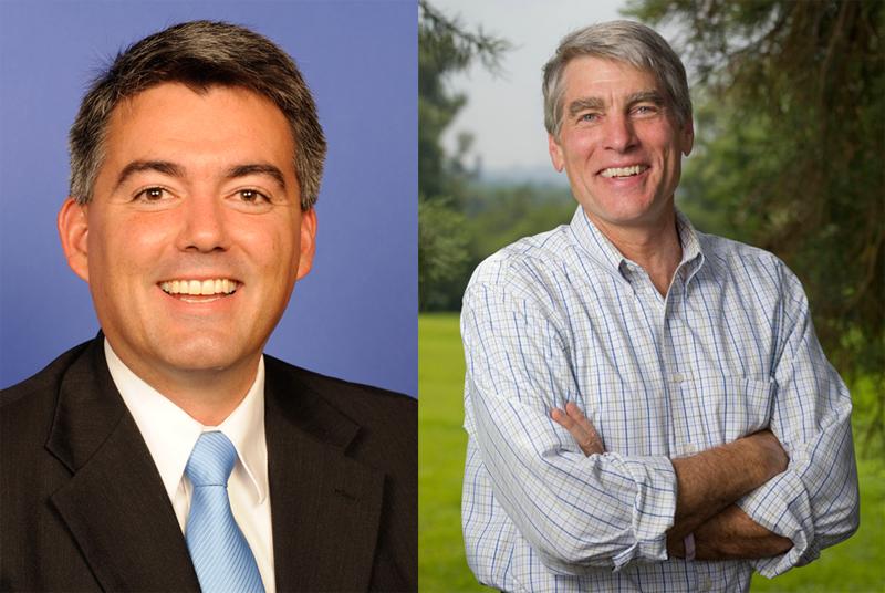 GOP Senate candidate Cory Gardner and Democratic incumbent Mark Udall