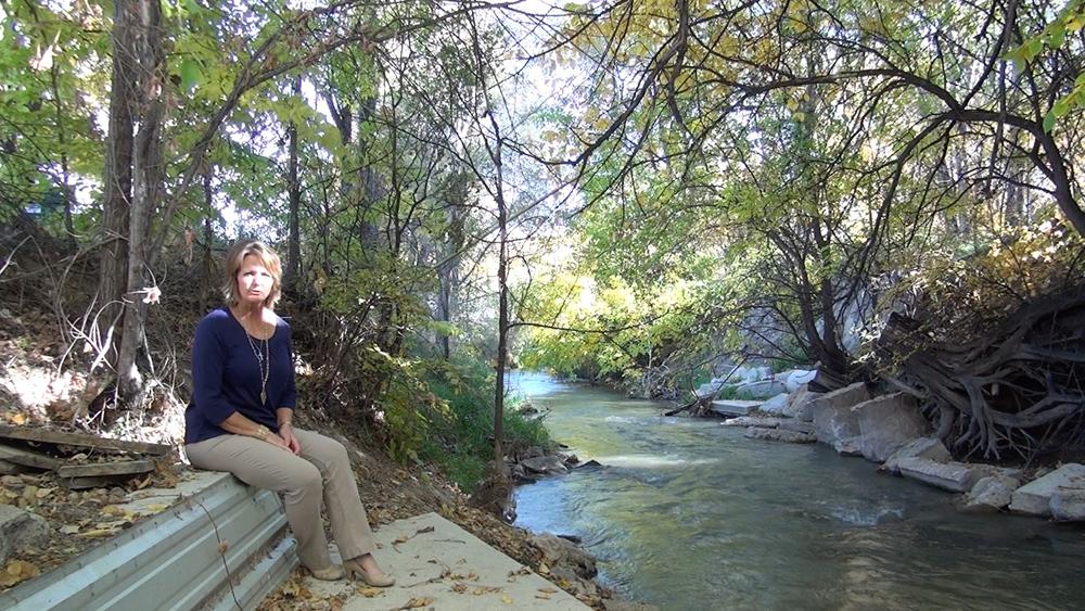 Deb Daniel at the Republican River in Wray, CO