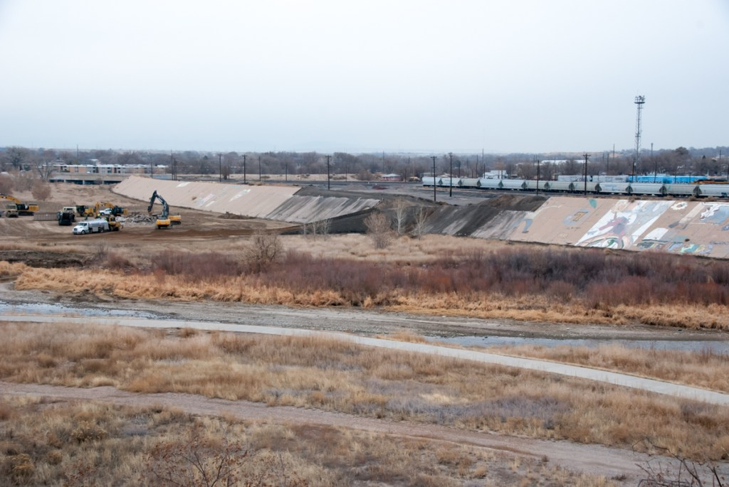 Work on the Arkansas River levee begins in Pueblo.