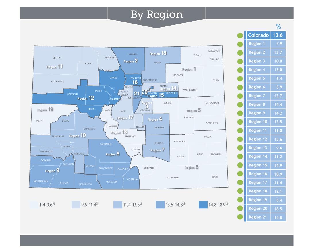 A regional breakdown of marijuana usage