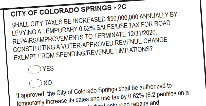 Colorado Springs ballot Measure 2C asks voters for a sales tax increase to help pay for road repairs