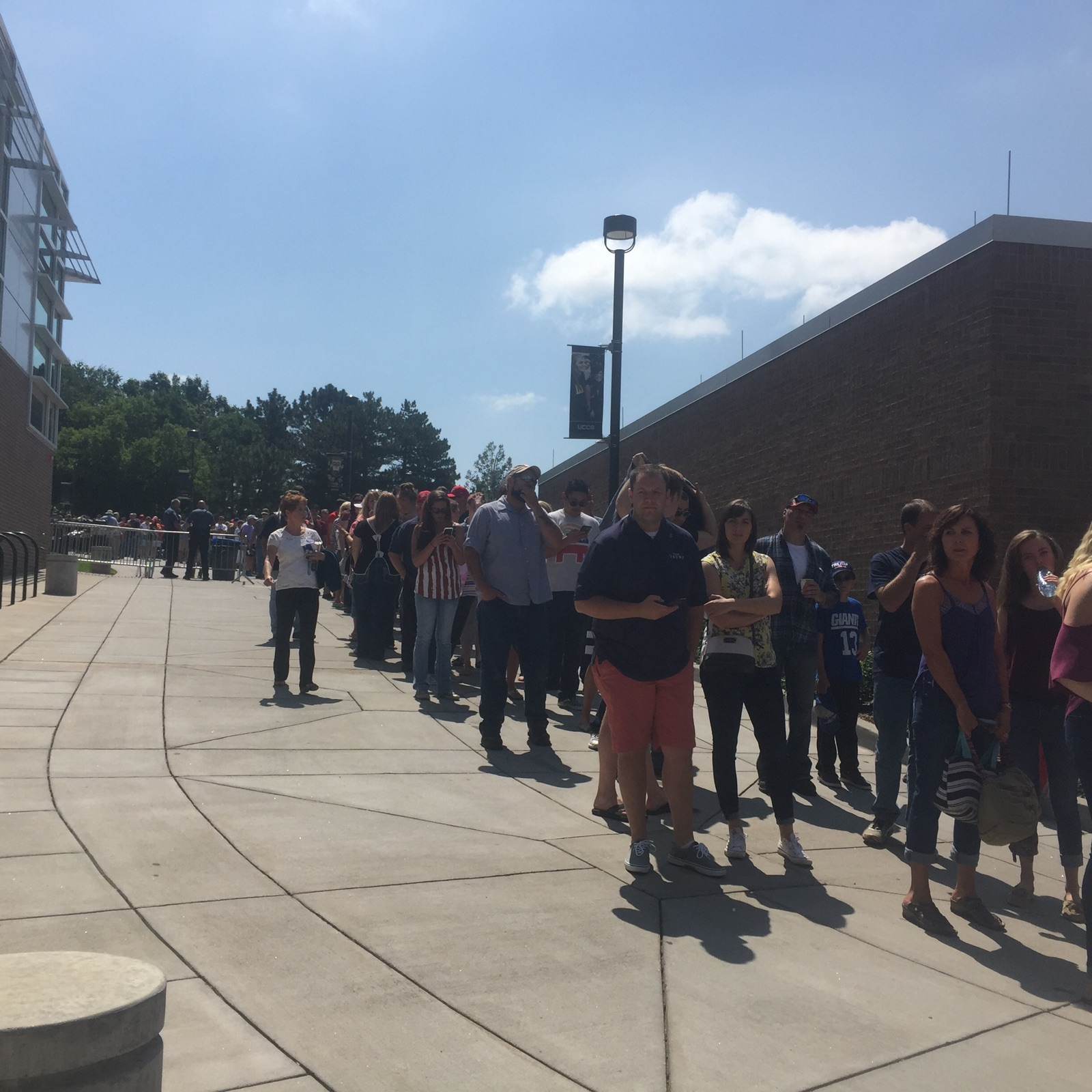 People lined up in July for a rally at UCCS featuring GOP presidential nominee Donald Trump.